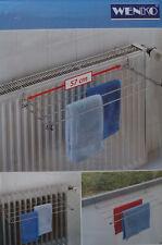 WENKO  Heizkörper-Wäschetrockner Chrom 4 Streben Wäsche trocknen Heizung platzsp
