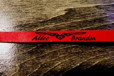 Leather Bracelet  RED, Engrave Your Name Personalize Handmade & Laser Etched !