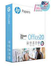 HP Printer Paper, Office20 Paper, 8.5x11 Paper, Letter Size, 1 Ream / 500 Sheets