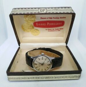 VINTAGE GIRARD-PERREGAUX GYROMATIC Cal.1909 STAINLESS STEEL 17 JEWELS 60´s