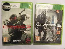 2 Xbox 360 Spiele CRYSIS 2 II + 3 III + Box Anleitung komplett PAL getestet & GWO