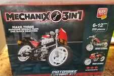 NEW Block Tech Mechanix 3 N 1 Motorbike Custom Kit 235 pc Building Blocks Set