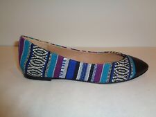 Ella Moss Size 6 M STACIA Black Leather Textile Flats New Womens Shoes