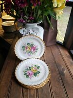 "Set of (4) Four Vintage 7"" Royal China Quban Round Royal Salad? Plate 22K Gold"