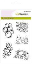 Silikonstempel Clear Stamps Hintergrund Craft Emotions A6 Wassertropfen Regen II