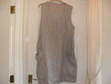 Taupe Linen Smock Top - Size 20 - Unworn