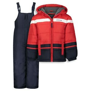 LONDON FOG® Boys 2-Piece Heavy Weight Snowsuit Set Sizes 5/6 7 8 NWT $120