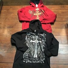 Lot Of 2 Avirex Hoodies Size XL Black And Red