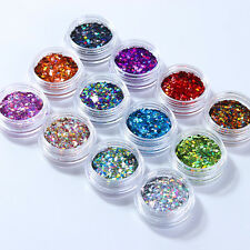 Nail Flakes Glitter Sequins Paillette Rhombus 3D Decoration Manicure Tips DIY