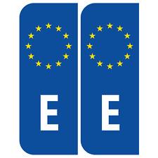 Spain Euro E Badge Car Number Plate Adhesive Vinyl Stickers European decal