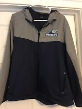 WEST MICHIGAN WHITECAPS WOMEN'S LIGHTWEIGHT GRAY & NAVY JACKET. SIZE LARGE