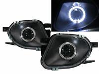 SPRINTER NCV3 03-16 Guide LED Halo Glass Fog Light Lamp Black for Mercedes-Benz