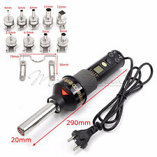 LCD Display Electronic 450W 220V Hot Air Heat Gun Soldering Station + Nozzles