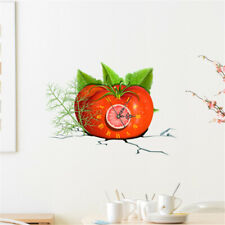 Personality Wall Clock Stickers 3D Diy Tomato Shape Decals Home Wall Decor I