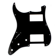 Left handed Strat style HH Layout Guitar Pickguard ,3ply Black