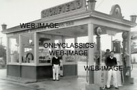 1919 RICHFIELD GAS STATION ATTENDANTS 12x18 PHOTO SIGN-GLOBE PUMP-AUTOMOBILIA