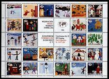 """Offizielle Weihnachtssiegelmarken """"Tuberkulose im Welt"""".Kinderzeichnung.BRD 1984"""