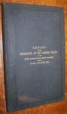 1896 ANTIQUE REPORT INTERNATIONAL PRISON CONFERENCE BOOK JAIL SYSTEM