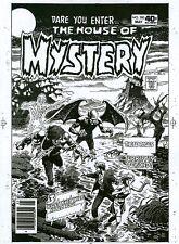 House of Mystery 280 COVER ART Acetate Proof ZOMBIE, VAMPIRE BAT DC COMICS B/W
