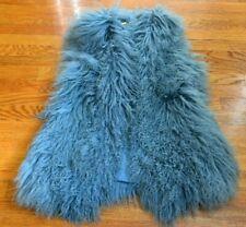 $1498 Diane von Furstenberg Mongolian Shearling Fur Dress Coat Vest 2 4 / SMALL