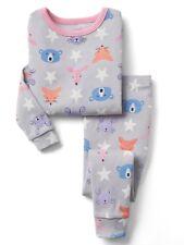 GAP Baby / Toddler Girls Size 4 Years / 4T Gray Starry Animals Pajamas PJ Set