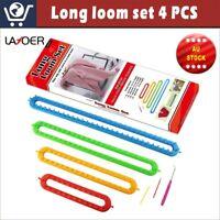 LAYOER Spool Long Knitting Loom Set with Hook Needle Kit for Yarn Cord Knitter