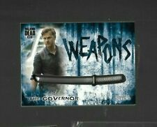 Topps WALKING DEAD HUNTERS & HUNTED THE GOVERNOR WEAPONS 25/50 MEDALLION SWORD