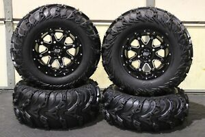 "HONDA BIG RED 700 25"" USA ITP MUD LITE II ATV TIRE & STI HD4 WHEEL KIT IRSL5"