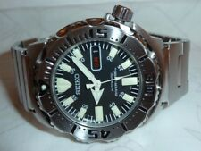 MEN'S SEIKO BLACK MONSTER DIVER'S WATCH MODEL SKX779 / 7S26-0350 1st GENERATION
