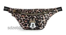 DISNEY Ladies Minnie Mouse BUM BAG Leopard Print Fanny Black Hip Waist Primark