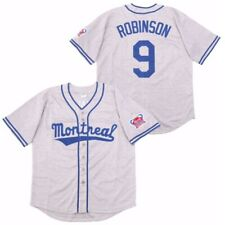 Custom Throwback 80's Montreal Jackie Robinson #9 Baseball Jersey Stitched Name