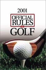Official Rules of Golf 2000-2001-ExLibrary