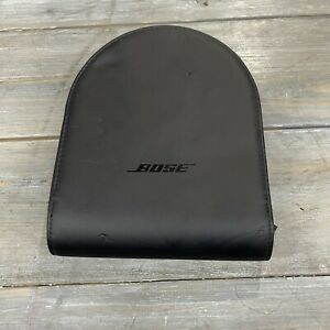 Bose Travel Compact Carry Case for Headphones Genuine Authentic Black Leather