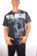 METAL MULISHA HELMET SKULL MX MOTOCROSS DIRT BIKE RACING TEE T SHIRT Sz Mens L