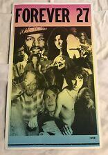 "Forever 27 Poster 13""X 22"" With Hendrix, Joplin, Morrison, Cobain"