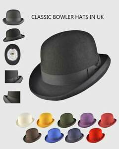 Bowler Hat for Mens Wool Felt Supreme Quality with Many Colours-iHATS London UK