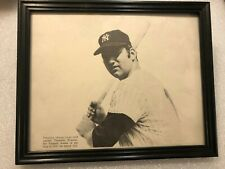 "VINTAGE FRAMED 9"" X 11"" PICTURE OF THURMAN MUNSON, NICE, WOW!"