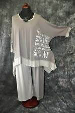 Layered Look Bow - Wave Big Sweater Jersey Cappucino - Kitt Print XXL,XXXL,XXXXL