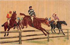POSTCARD  SPORT - HORSE RACING - STEEPLECHASE