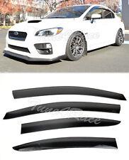 For 15-Up Subaru WRX STi Side Window Visors JDM Injection Durable Rain Guard