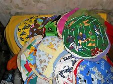 "700 7 5/8"" CUT/.STITCHED ROUNDS/CIRCLES FABRIC PLAIN/PRINTS QUILT ?? 15+LBS"