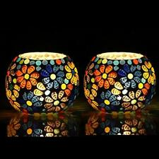 Moroccan Glass Mosaic Tealight Candle Holder Mosaic Candle Holder, Diwali Candle
