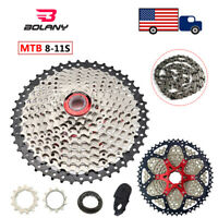 BOLANY 8//9//10//11Speed MTB KMC Cassette 40//42//46//50T Sprocket Fit Shimano//SRAM US