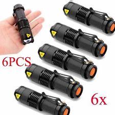 6Pcs 7000LM Mini LED Zoomables Tactique Torche Lampe de Poche Flashlight