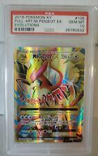 Pokemon Evolutions PSA 10 GEM MINT Mega Pidgeot EX FULL ART