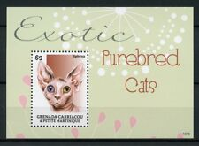 Grenadines Grenada 2013 MNH Exotic Purebred Cats II 1v S/S Pets Sphynx Stamps