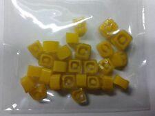 10 grammi murrine in foto murano glass millefiori giallo gialle misura 6-7 mm