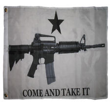 4x6 Come and Take It M4 2nd Amendment Gun Rights White Flag 4'x6' ft Grommets