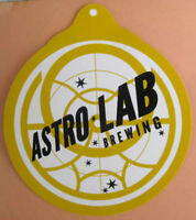 ASTRO LAB BREWING CO, 4 X 4 1/2 inch Beer STICKER, LABEL, Silver Spring MARYLAND