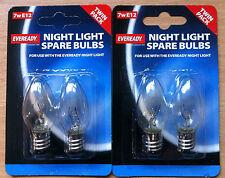 7w Pygmy SES E12 Night Light Bulb Lamp 240v  2 x 2pk = 4 Bulbs